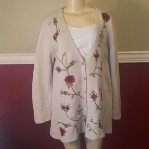 J jill knitted cardigan euc size large
